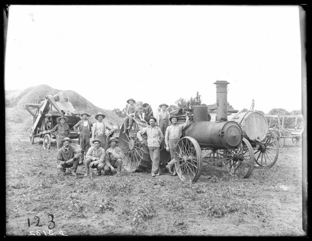 N. Freeze steam threshing outfit near Sumner, Dawson County, Nebraska.