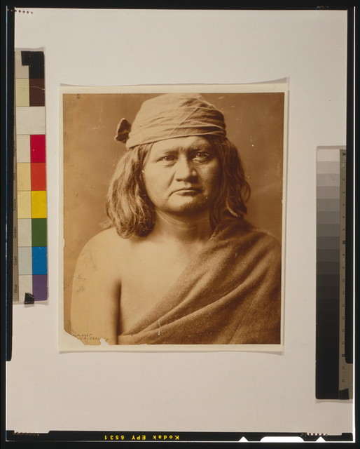[Native man, head-and-shoulders portrait, facing front]