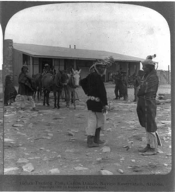 [Navajo Reservation, Arizona]: Indian Trading Post, Cañon Diablo