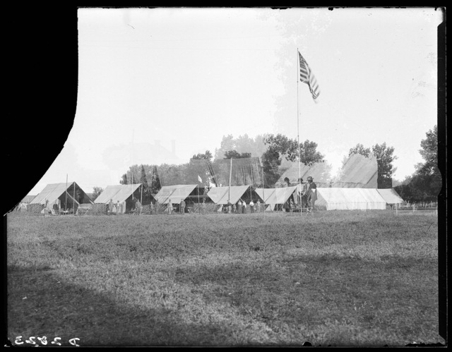 Nebraska National Guard encampment at Kearney, Nebraska.