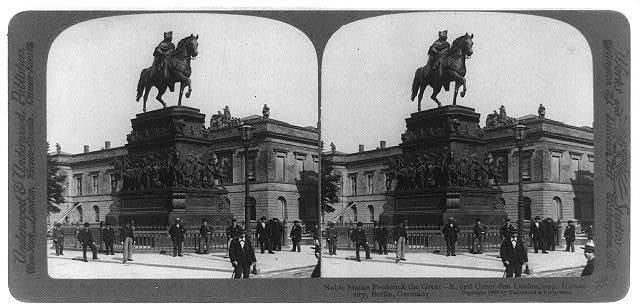 Noble statue Frederick the Great--E. end Unter den Linden, opp. University, Berlin, Germany