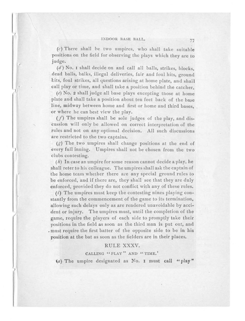 Official indoor base ball guide containing the constitution, 1903