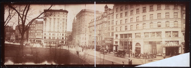 [Pa]noramic photo Colonial Theatre Bldg., Hotel Touraine and Masonic Bldg.