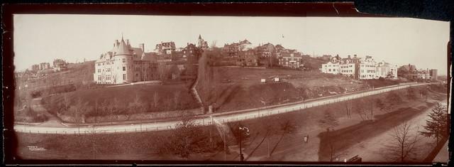 Panoramic photo of Corey Hill, Brookline, Mass.