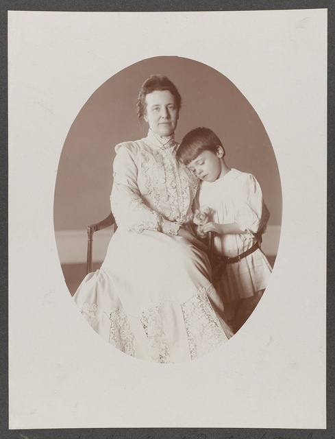 Portrait of Mrs. Roosevelt and Quentin, seated no. 3
