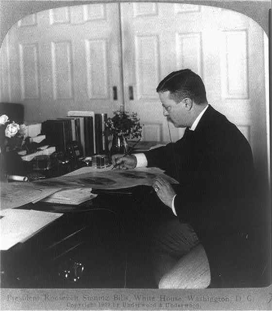 President Roosevelt signing bills, White House, Washington, D.C.