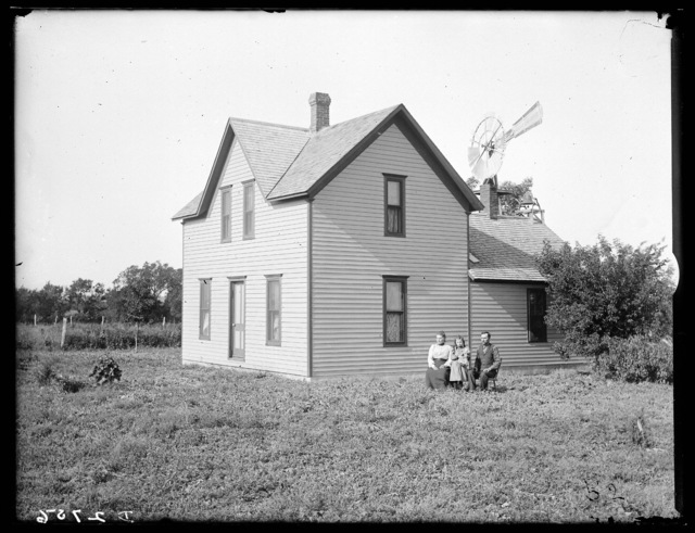 R.A. Acheson family in front of their farm house near Watertown, Nebraska.