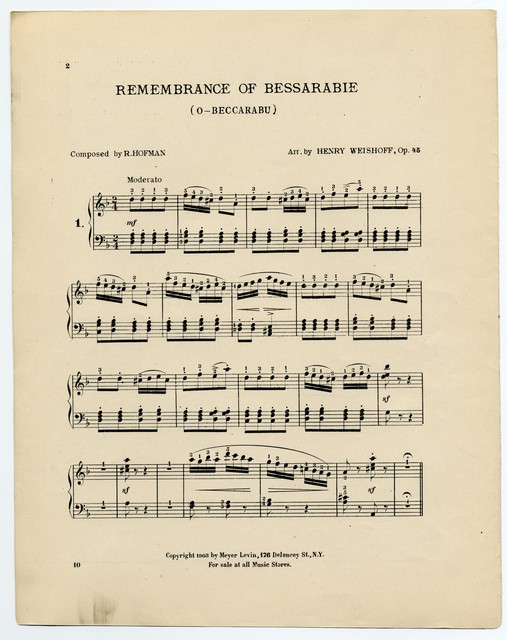 Remembrance of Bessarabie