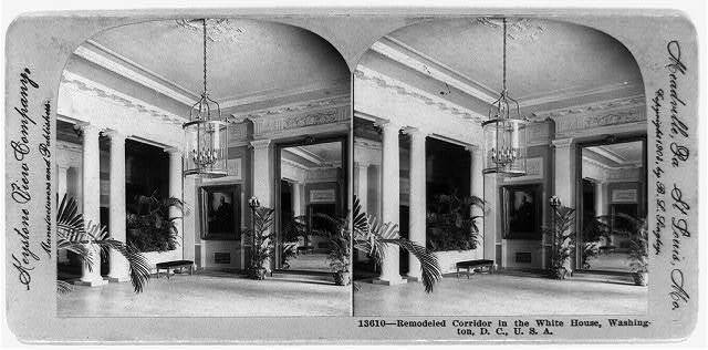 Remodeled corridor in the White House, Washington, D.C., U.S.A.