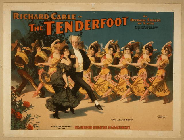 Richard Carle in The tenderfoot an operatic comedy in 3 acts : book by Richard Carle ; music by H.L. Heartz.