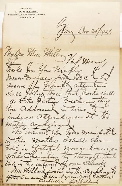 Samuel D. Willard to Anne Fitzhugh Miller