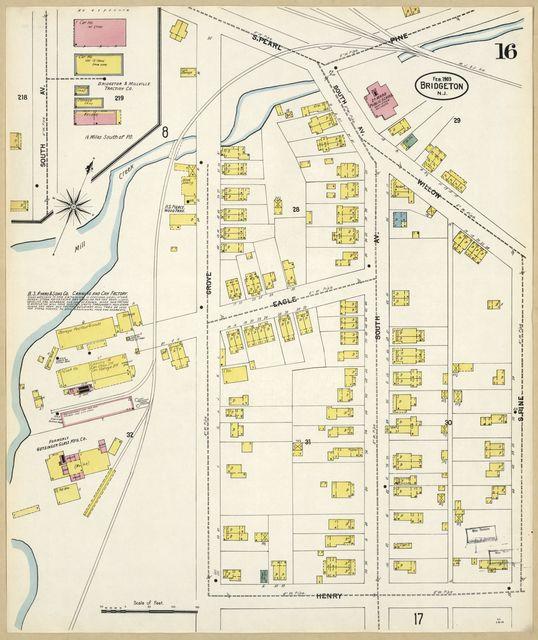 Sanborn Fire Insurance Map from Bridgeton, Cumberland County, New Jersey.