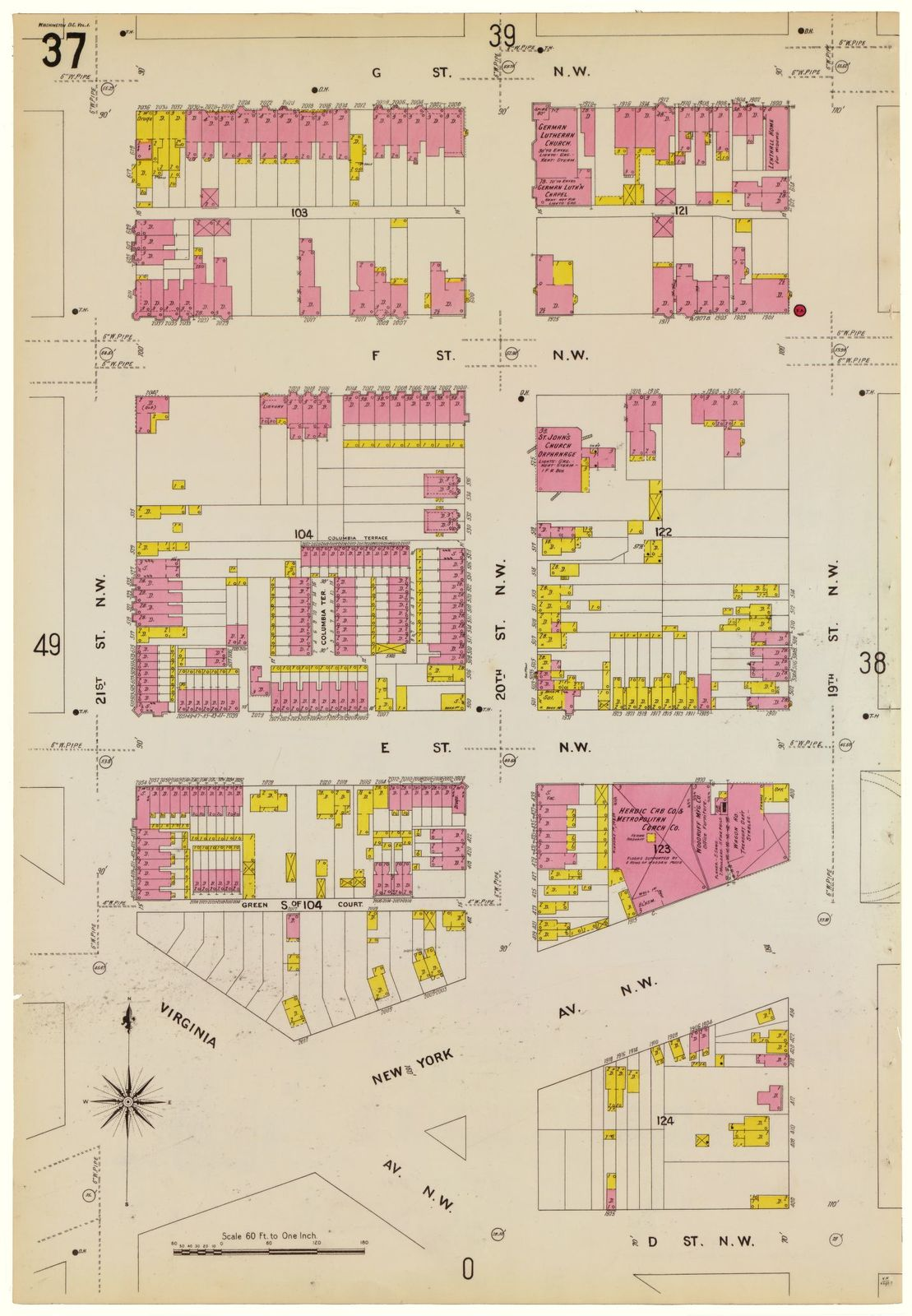 Sanborn Fire Insurance Map from Washington, District of Columbia ...