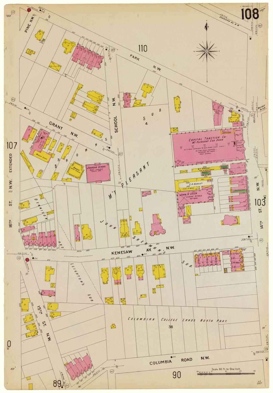 Sanborn Fire Insurance Map from Washington, District of Columbia, District of Columbia.