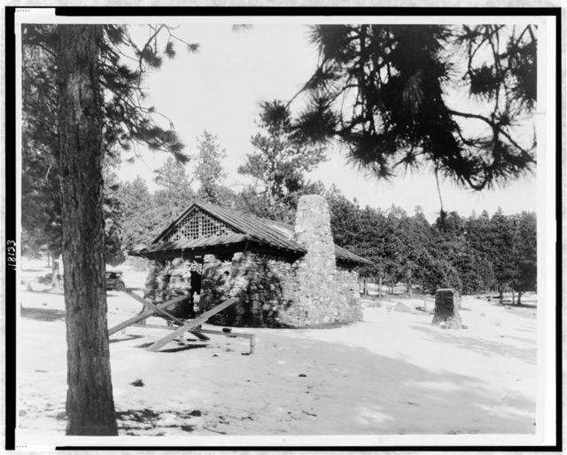 Shelter house built for the city of Denver in Rocky Mountains--J.B. Benedict, Architect