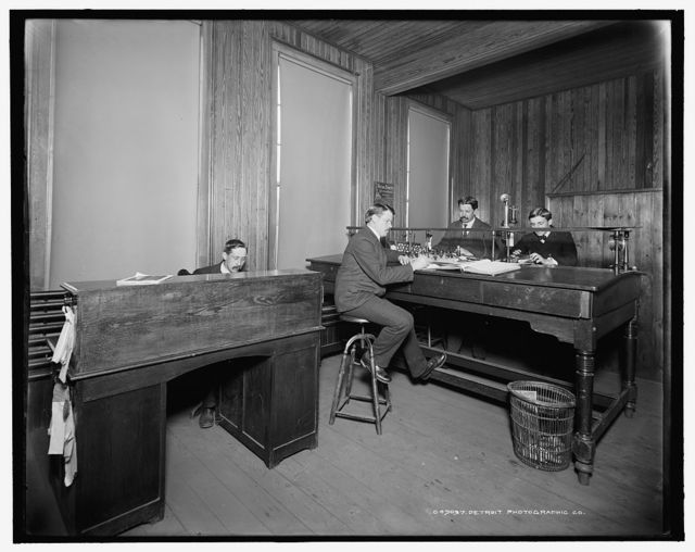 [Shipping office, Leland & Faulconer Manufacturing Co., Detroit, Mich.]