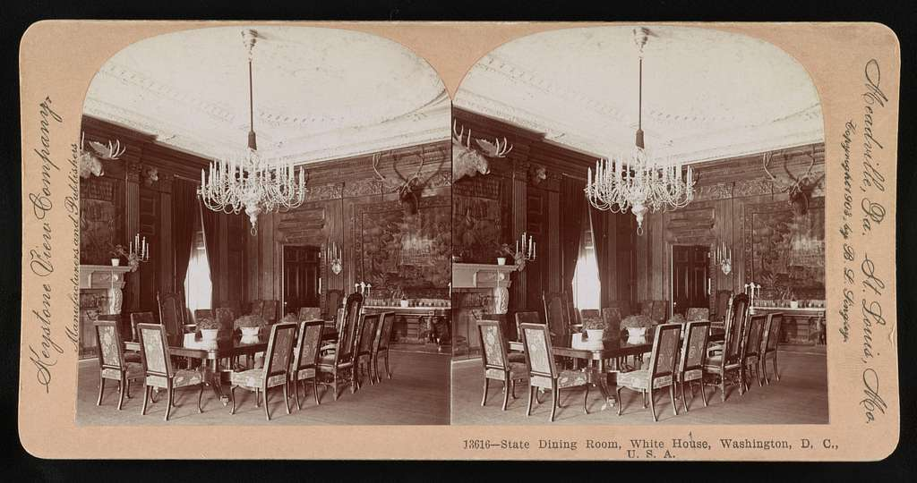 State dining room, White House, Washington D.C., U.S.A