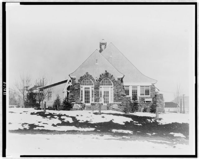 [Stone house, with snow on ground, Colorado] / Langer-Cooper.