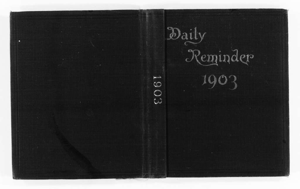 Susan B. Anthony Papers: Daybook and Diaries, 1856-1906; Diaries; 1903