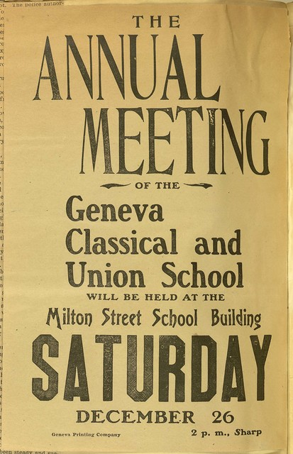 The Annual Meeting of the Geneva Classical and Union School