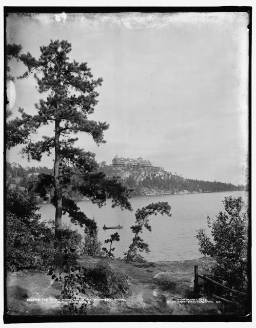 The Cliff House from the Wildmere House, Lake Minnewaska, N.Y.