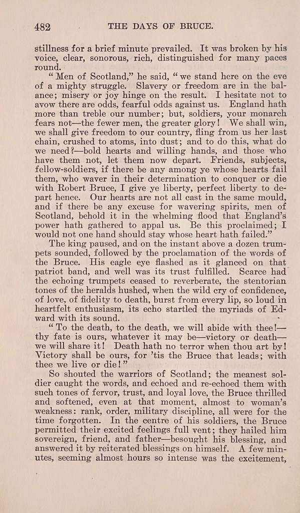 The days of Bruce; a story from Scottish history,