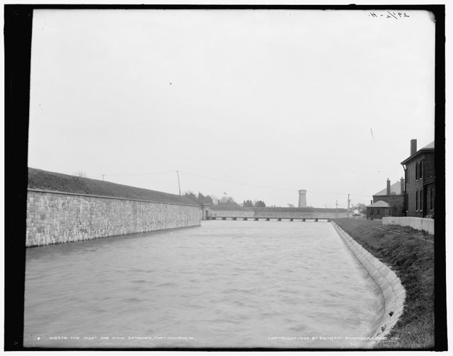 The Moat and main entrance, Fort Monroe, Va.