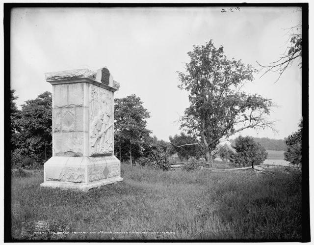 The Peach Orchard and 3rd Mich. Infantry Monument, Gettysburg