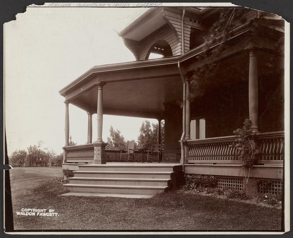 The Portico. President Roosevelt's Estate