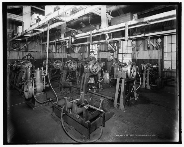 [The testing room, Leland & Faulconer Manufacturing Co., Detroit, Mich.]