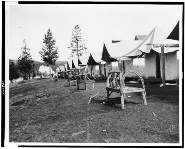 [Tourist accommodations in upper Geyser Basin, Yellowstone Park]