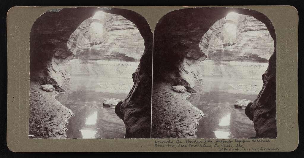 Towards the Bridge Zion Interior Upper Corner Chamber, Deer Park Glen, La Salle, Ill. (1)