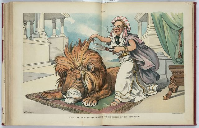 Will the lion allow himself to be shorn of his strength? / J.S. Pughe.