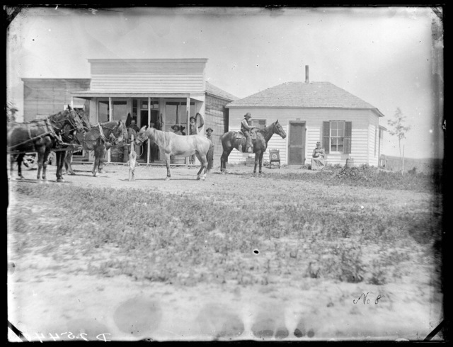 William Predmore's store and house, West Union, Custer County, Nebraska