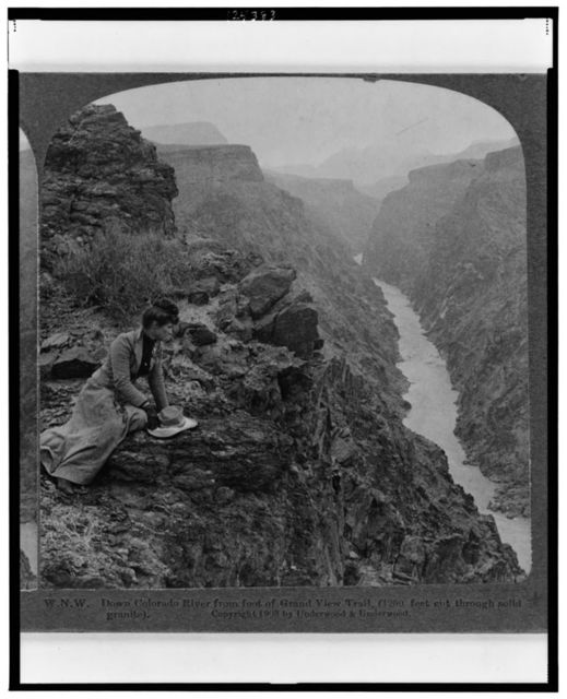 W.N.W. - Down Colorado River from foot of Grand View Trail (1200 feet cut through solid granite)