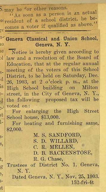 Women May Vote; Qualifications for school suffrage
