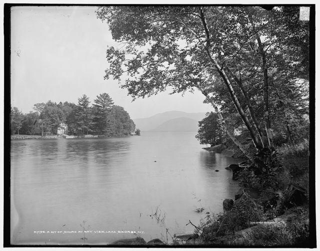 A Bit of shore at Bay View, Lake George, N.Y.