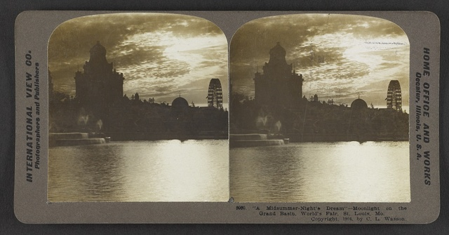 """A midsummer-night's dream"" - Moonlight on the Grand Basin, World's Fair, St. Louis, Mo."
