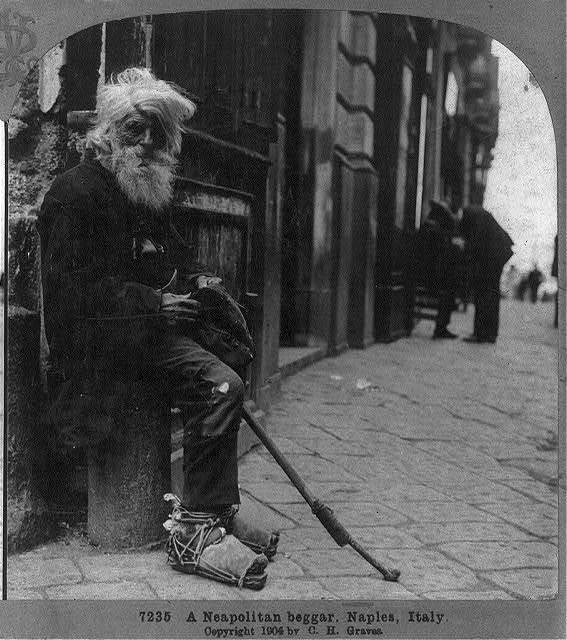 A Neapolitan beggar, Naples, Italy