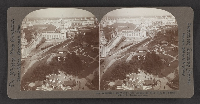 A section of the World's Fair grounds as seen from the ferris wheel, St. Louis, Mo. 1904