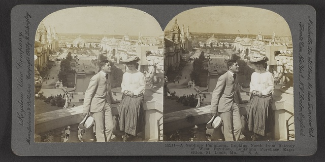 A sublime panamora, looking north from balcony of West Pavillion, Louisiana Purchase Exposition, St. Louis, Mo., U. S. A.
