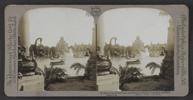 A vista of the Grand Basin and Terrace of States, Louisiana Purchase Exposition.