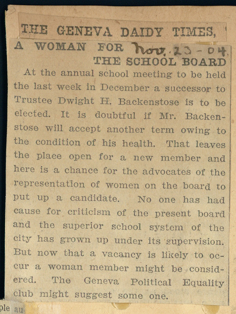 A Woman for the School Board