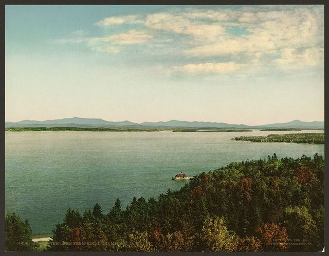 Across the lake from Hotel Champlain, N.Y.