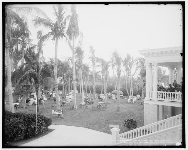 Afternoon concert hour, the Royal Poinciana, Palm Beach, Fla.