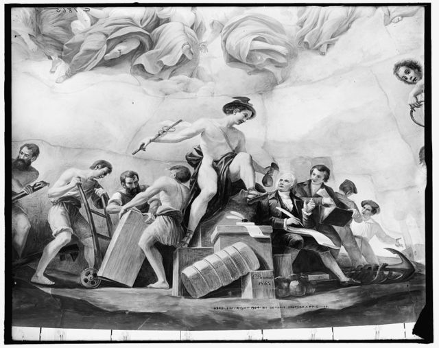 [Apotheosis of Washington. Commerce detail]