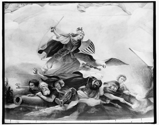 [Apotheosis of Washington.  Fall of tyranny, detail]