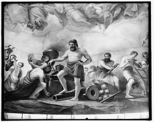 [Apotheosis of Washington. Mechanics detail]