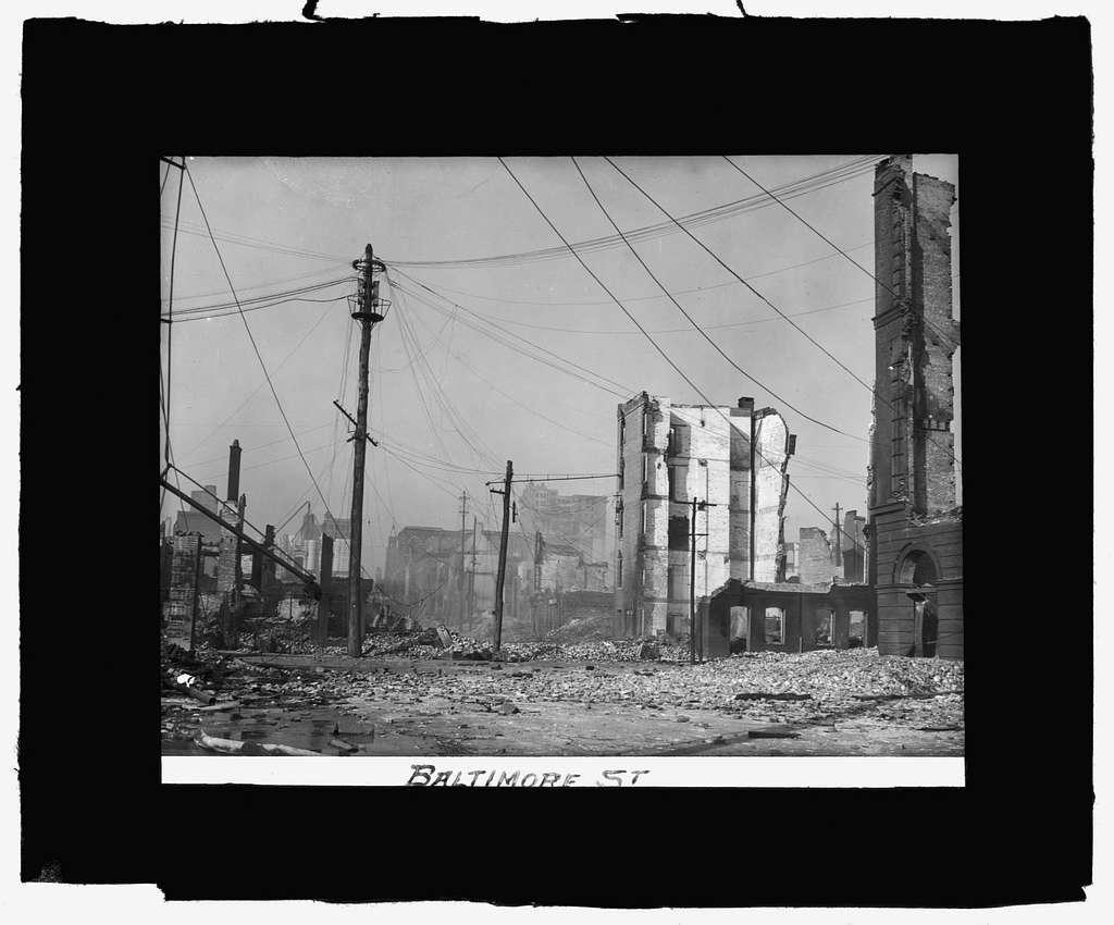 Baltimore fire, 1904 Baltimore St