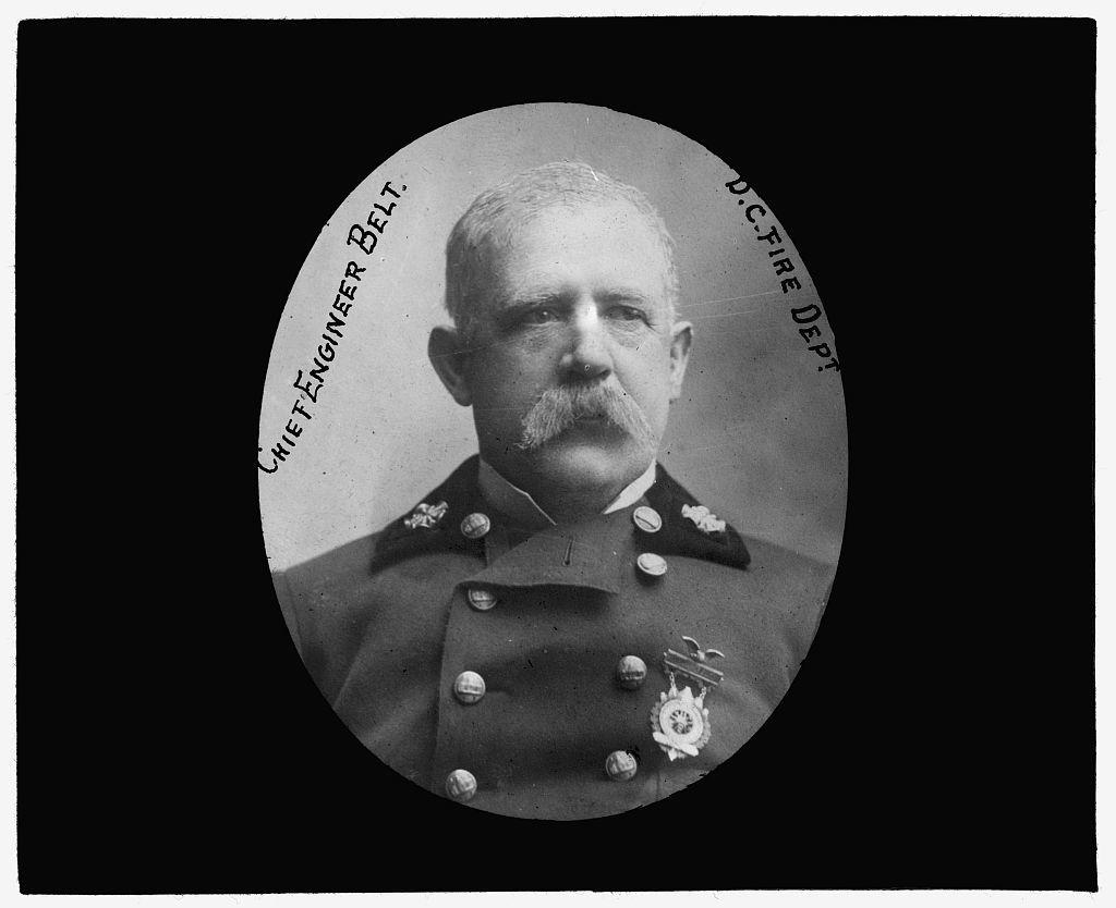 [Baltimore fire, 1904] Chief Engineer Belt, D.C. Fire Dept.